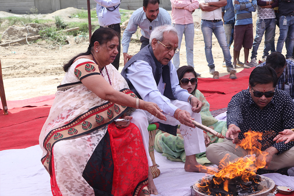 Bhoomi Poojan of Hospital at Gaur City