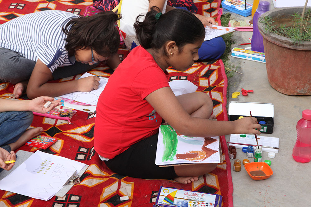 Painting Competition at Gaur City