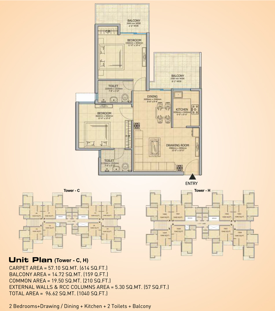 Gaur City 14th Avenue – Top 2/3 BHK Apartments in Greater