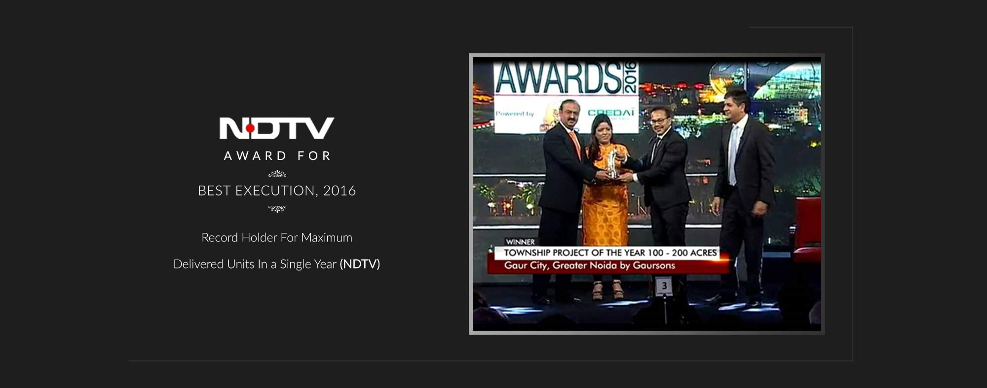 Gaurs Apartments NDTV Awards